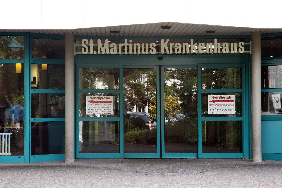 Eingang St. Martinus Krankenhaus